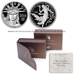 2016-w 100 American Platinum Eagle 1 Oz Ounce Proof West Point Minted Coin Ogp