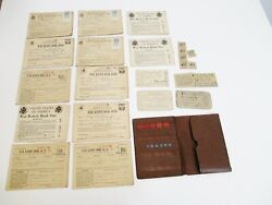 Lot Of Wwii War Family Ration Books Tokens Stamps Holder Mileage Ration Card
