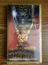 Army Of Darkness Directorand039s Cut Video Vhs 1999 Sealed Numbered See Photos