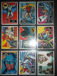 1966 Batman Black Bat Complete55 Card Set Topps Beautiful See Pictures
