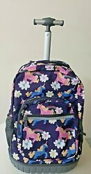 Rolling Backpack for Boys amp; Girls 18 inch Student Wheeled Laptop Backpack RK002 $79.99