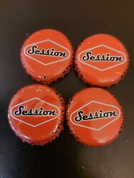 Sessions Old Beer Bottle Caps With Rock Paper Scissors Written Inside.4x