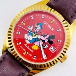 Citizen Mickey Mouse Used Men's Watches Mechanical Self-winding Vintage