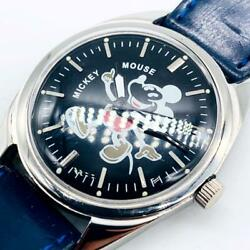 Hmt Mickey Mouse Black Men's Watches Mechanical Hand-wound Vintage