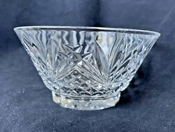 Crystal Dessert Bowls 5 Round Lot Of 8 Leaded Hand Cut Glass Lismore-style Cuts