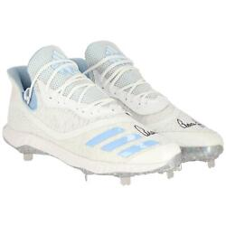 Aaron Judge Ny Yankees Signed Player-issued White And Blue Cleats - 2020 Season