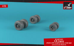 Armory 1/72 Armstrong-whitworth Argosy Wheels With Weighted Tires 72422