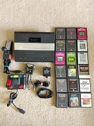 Vintage Atari 7800 Adapter Cords Console + Games Adapter Lot Everything Works