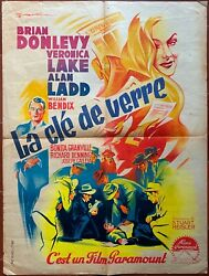 Poster The Key Of Glass Veronica Lake Alan Ladd Film-noir 23 5/8x31 1/2in
