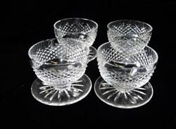 Four Waterford Dessert Dishes In The Alana Pattern