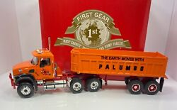 """First Gear 1/34 Scale Mack Granite Tractor W/end Dump """"palumbo Version"""" Rare"""