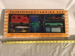 Tootsietoy Die Cast Toys 1950's Camping Set. Rare Find