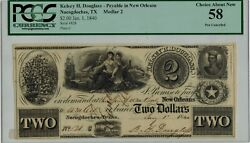 1840 Pcgs Choice About New 58 2 Kelsey H. Douglass Texas Nacogdoches ☆☆ 828