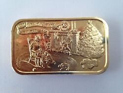 1974 E.j.aleo And Co Twas The Night Before Christmas Eja-15g Silver Art Bar P1764