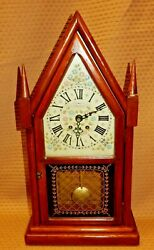 Eight Day Spring Wound Pendulum Clock New England Clock Co. For Parts Or Repair