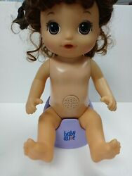 Baby Alive E0610 Potty Dance Talking Brown Hair Doll,no Clothes,chair Only Works