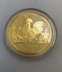 Australian Lunar Series Year Of Rooster Gold Coin 2017