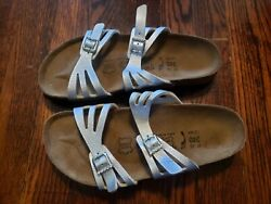 Birkis Womenand039s Silver New Size 37 L6 M4 Moorea