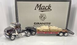 """First Gear 1/34 Scale Mack Tractor W/low Boy Trailer """"granite Version"""" Limited"""
