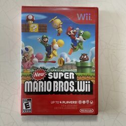 New Super Mario Bros Wii Nintendo Wii 2009 - Factory Sealed Red Case -no Rips