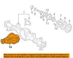 Toyota Oem 96-00 4runner Rear Axle-carrier Assembly 4111025521