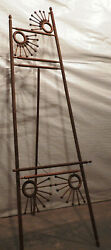 Antique Victorian Ball and Stick Art Display Easel circa 1900 Very Ornate