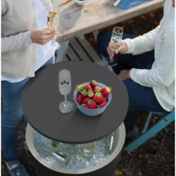 Outdoor Bar Table + Cooler Unique Bbq Ice Chest Pool Side Patio Cocktail Coffee