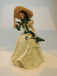 Gone With The Wind Barbque Gown Visions Of Scarlett Bradford Exchange W/coa