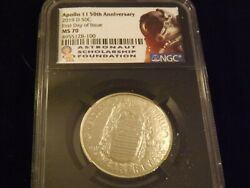 2019-d Apollo Ii 50th Anniversary First Day Of Issue Retro Ngc Ms 70