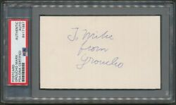 Groucho Marx Actor 'to Mike' Autograph Auto Signed Index Card Psa/dna
