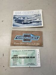 1966 Chevelle Sport Cpe. Factory Gm Original Owners Manual Package