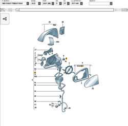 80b857410e9b9 Audi Q5/ Sq5 Mirror Mounting Right Side.only Part 1 In Diagram