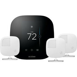 Ecobee 3 Smart Thermostat And 3 Room Sensors, Works With Alexa - Open Box