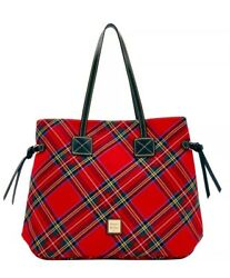 Dooney And Bourke Holiday Plaid Bag Tote Christmas New Year