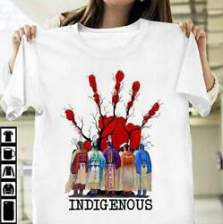 Mmiw Red Hand Movement Native American Indigenous People Men T-shirt S-6xl White