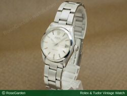 Rolex Watch Vintage Oyster Date Ref.6466 Boys Size Silver Dial Stainless Steel