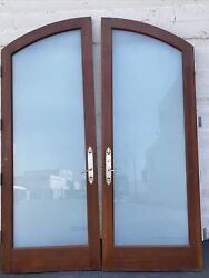 Arched French Doors Privacy Frost 95x71.50