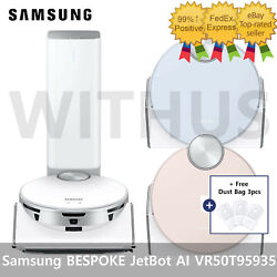 Samsung Bespoke Jet Bot Ai Robot Vacuum Cleaner With Clean Station Vr50t95935