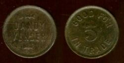 Dandy Vender Gf 5andcent It Chicago Illinois Cook County Tc68368 Good For Trade Token