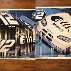 2 Mural Nascar Posters Ryan Newman 12 Alltel Sony And Mobil 1 Fathead Collectible