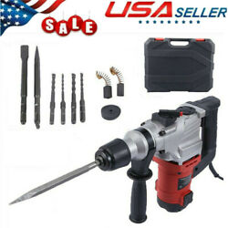 3000rpm 1050w Electric Demolition Jack Hammer Concrete Breaker Punch Chisel Usa