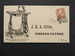 New York Ny City 1860s 65 Wilcox And Gibbs Sewing Machine Advertising Cover