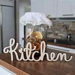Wooden Kitchen Sign Farmhouse Cut Out Vintage Natural Ply Wood Wall Hanger