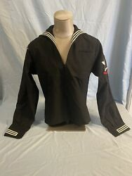 Us Navy Dress Blue Uniform Set Jumper And Trousers Top 38r Trousers 28r