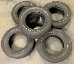 Vintage Oem Goodyear Polyglas Gt F60-15 Tires - Set Of 5 For Matching Spare