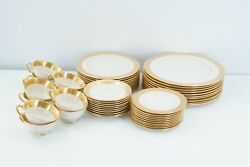 Lenox Westchester Gold Encrusted China Service For 10 5pc Place Setting