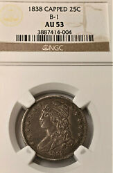 1838 25c Ngc Au53 Bust Quarter - Beauty Unbothered Original 200 Years👀