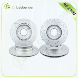 Front And Rear Drilled Slot Brake Rotors For Bmw 323i 325i 328i 328is 318i 318is