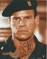 Hand Signed 8x10 Don Stroud As Heller In Licence To Kill - James Bond + Coa