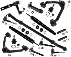4wd Front End Kit Ford F-250 Xlt 5.4l Wishbone Arms Shock Absorber Rack Ends New